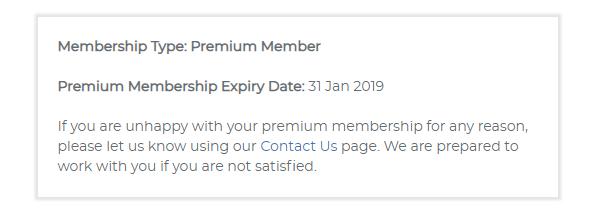 When your Premium Membership expires.