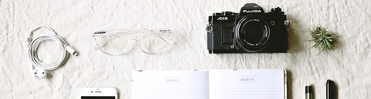 Journal and camera